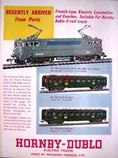 1961 Hornby Dublo Trains ADVERT SNCF 'BB16000' Loco & Coaches - Vintage Print AD