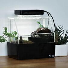 Desktop Fish Tank Aquarium Water Filtration Led Light Home Decor Fish Tank Black