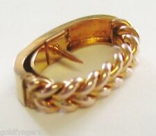 "Vintage: 9ct Solid Yellow Gold... ""Fancy Braided Design""..Scarf Clip Holder !"
