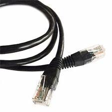 1M (3.2ft) Black Ethernet Cable Cat5e RJ45 Network Lan Patch Lead 100% Copper