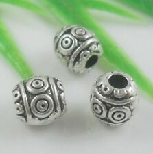 40pcs Tibetan Silver Spacer Beads Findings 6.5x6mm  (Lead-free)