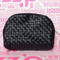 Sephora Quilted Cosmetic Makeup Bag Clutch Purse with zip closure~NEW~BLACK