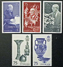 Timbre SUÈDE / Stamp SWEDEN Yvert et Tellier n°757 à 761 (cyn9)