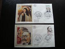 FRANCE - 2 envelopes 1st day 1982 (leon blum-ste thérèse d avila) (cy18)french