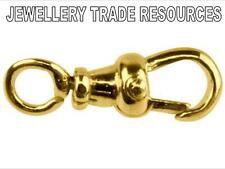 15mm 9ct YELLOW GOLD ALBERT SWIVEL JEWELLERY CLASP FOR CHAIN OR WATCH FOB