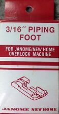 "Janome 3/16"" Piping Foot - NEW Overlocker Serger Inch Snap on Clip Elna Lumina"