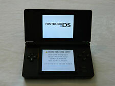 Nintendo DS Lite BLACK Handheld System with LEATHER COVER ONLY £40