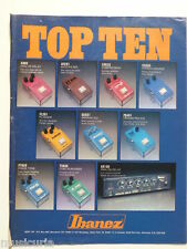 retro magazine advert 1981 IBANEZ effects