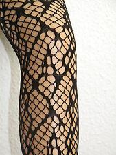 Löchrige Gothic-Punk-Strumpfhose, schwarz, one size, schwarz, Netzstrumpfhose