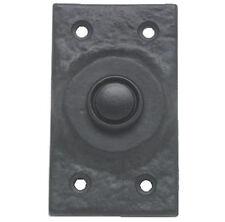 Interruptor de campana de puerta rectangular Victoriana En Hierro Fundido Negro (AB467)