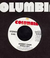 JOHNNY CASH 45 RPM COLUMBIA 18-02189 - Mobile Bay (1981)