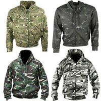 ARMY XENON REVERSIBLE JACKET MENS S-3XL INSULATED CAMOUFLAGE COAT BTP BLACK CAMO
