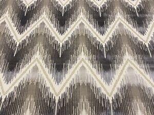 Kravet Couture Chevron Ikat Velvet Upholstery Fabric Reimagined Platinum 0.90 yd