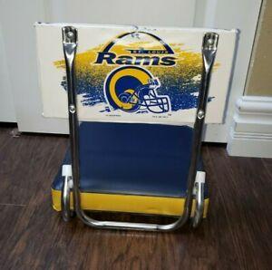 Vintage 1997 NFL Gameday St. Louis Rams Cushion Bleacher Seat Chair Foldable