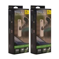 Nite Ize Steelie Windshield Mount Kit Plus Magnetic Car Mount For Phones(2-Pack)
