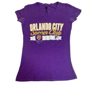 Orlando City Soccer Club Woken Purple VNeck Med Tee Short Sleeve TShirt