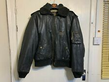 VINTAGE NICKELSON DISTRESSED LEATHER MOTORCYCLE JACKET SIZE 2XL