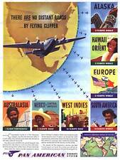 ADVERT AIR LINE CLIPPER FLY TRAVEL 1940 DISTANT LANDS ART PRINT POSTER BB6580