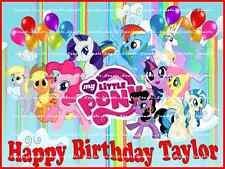 MY LITTLE PONY: Personalized edible cake topper  FREE SHIPPING in Canada