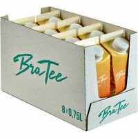 BraTee Pfirsich Eistee 0,750 L Packung, 8er Pack (8x0,75 L)