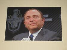 NHL Commissioner GARY BETTMAN Signed 4x6 Photo AUTOGRAPH