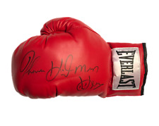 More details for thomas hitman hearns signed everlast boxing glove see proof world champion