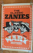 THE MARX BROTHERS MOVIE POSTER Original Folded 27x41 MGM STOCK POSTER