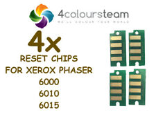 4x TONER RESET CHIPS FOR XEROX PHASER 6000 6010 6015 106R01634 106R01633