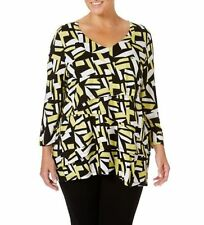 Career Tunic Hand-wash Only Geometric Tops & Blouses for Women