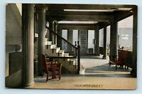 Geneva, NY - EARLY 1900s YMCA INTERIOR - ROTOGRAPH POSTCARD - M4