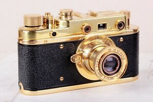 Camera Leica-II (D) Luftwaffe camera vintage with Leitz Elmar 3.5/50