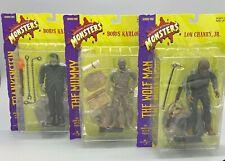 1998 Sideshow Universal Monsters Series 1 Set-Frankenstein Wolf Man Mummy Figure
