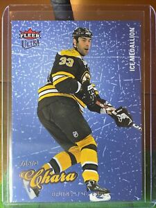 2008-09 ULTRA ICE MEDALLION #10 ZDENO CHARA 027/100 ****BOSTON****🏒🏒🏒🏒🏒🏒🏒