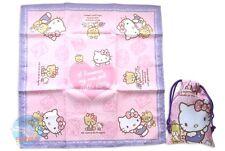 SANRIO HELLO KITTY KAWAII Square Lunchbox Cloth Drawstring Bag Pouch Special Set
