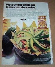 1976 print ad - Frito-Lay Doritos California Avocados western chef salad recipe