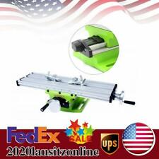 Milling Machine Work Table Cross Slide X Y Axis Bench Drill Press Vise Fixture