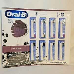 ORAL-B Charcoal Electric Toothbrush Replacement Refill Brush Heads  (8 ct.)