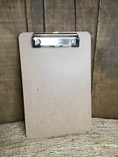 Business Source Brown Hardboard Clipboard 6x9 Clip Board Small Medium