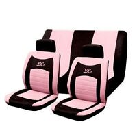 8PC PINK RS RACING SPORTS STYLE CAR SEAT COVERS SET WITH A CARRY BAG WASHABLE NW