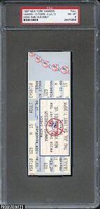 1997 Jul 10 New York Yankees V Tigers Hideki Irabu Debut Full Ticket PSA 8 NM-MT