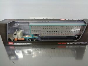 "DCP 33855 FIRST GEAR CHAD BLACKWELL PETERBILT 379 36"" sleeper livestock trailer"