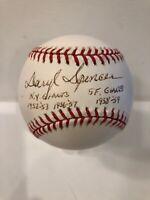 Daryl Spencer NY Giants 1952-53 1956-57 SF 1958-59 Signed NL Baseball - JSA COA
