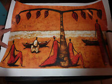 AFFICHE AFRICAINE TAILLE 43 X 62 CM DECO
