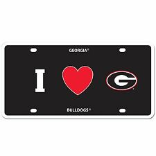 I love georgia bulldogs football logo car tag styrene license plate
