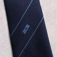 2CR club association cravate rétro vintage bleu marine logo d'entreprise par le sénateur 1980s