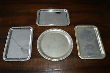 Set of 4 Vintage Silverplate Silver Serving Trays