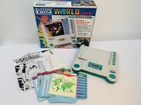 Vintage Vtech World Wizard Traveller Held Electronic Game 20 Double Sided cards