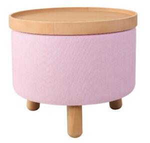 Couchtisch Beistelltisch Sitz Fuß Hocker Molde Tablett abnehmbar Rosa 50cm