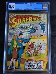 SUPERMAN #162 CGC VF 8.0; White pg!; scarce!