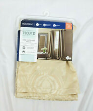 "JCPenney Home Seamist Tan Blackout Plaza Grommet-Top Curtain Panel, 50""x84"""